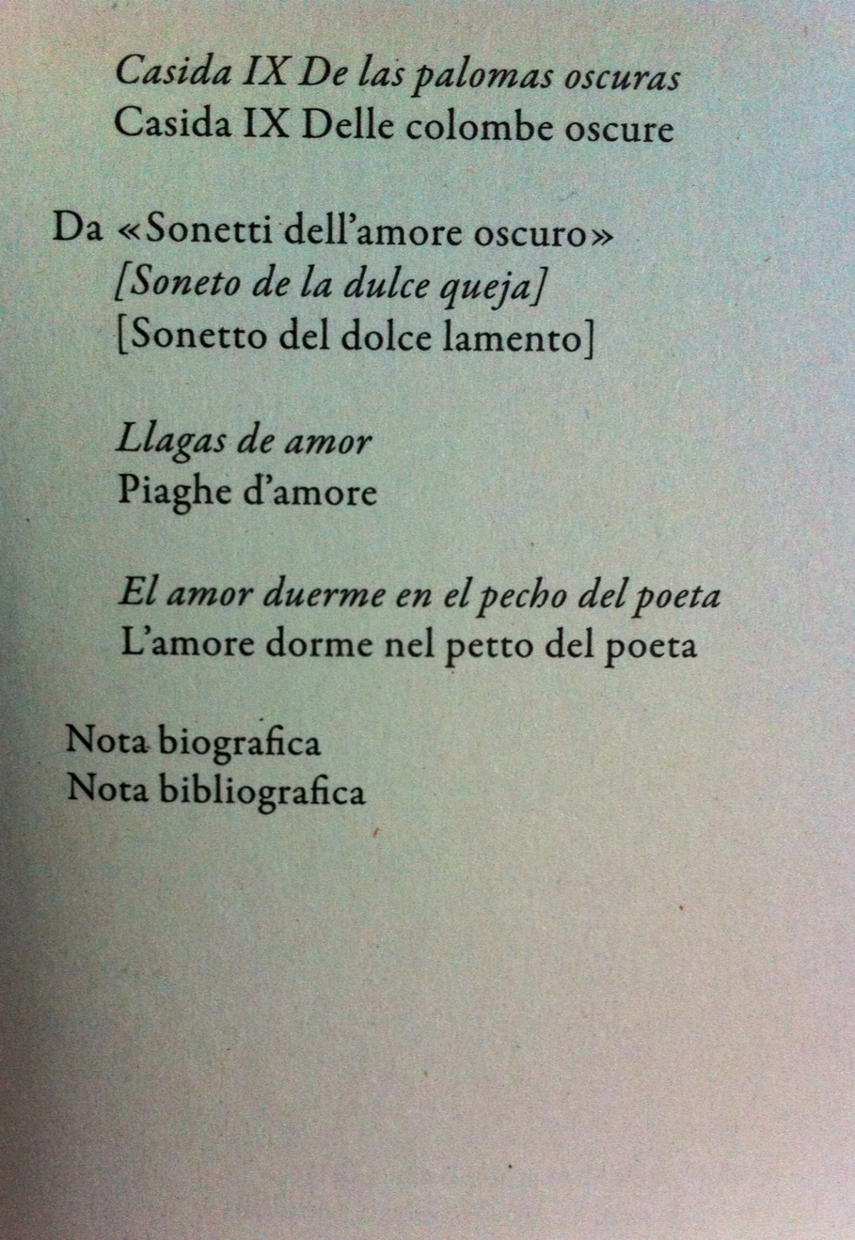 L'amore oscuro.